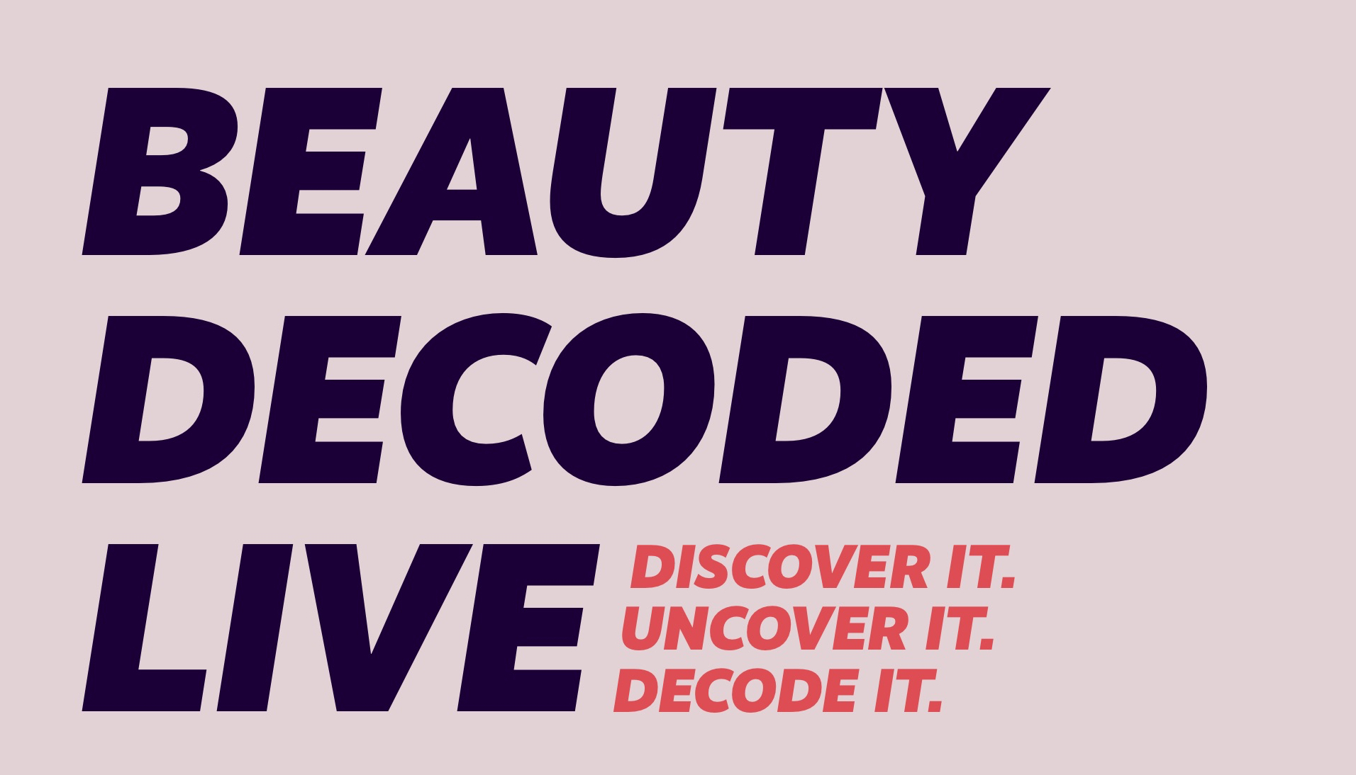 Beauty Decoded